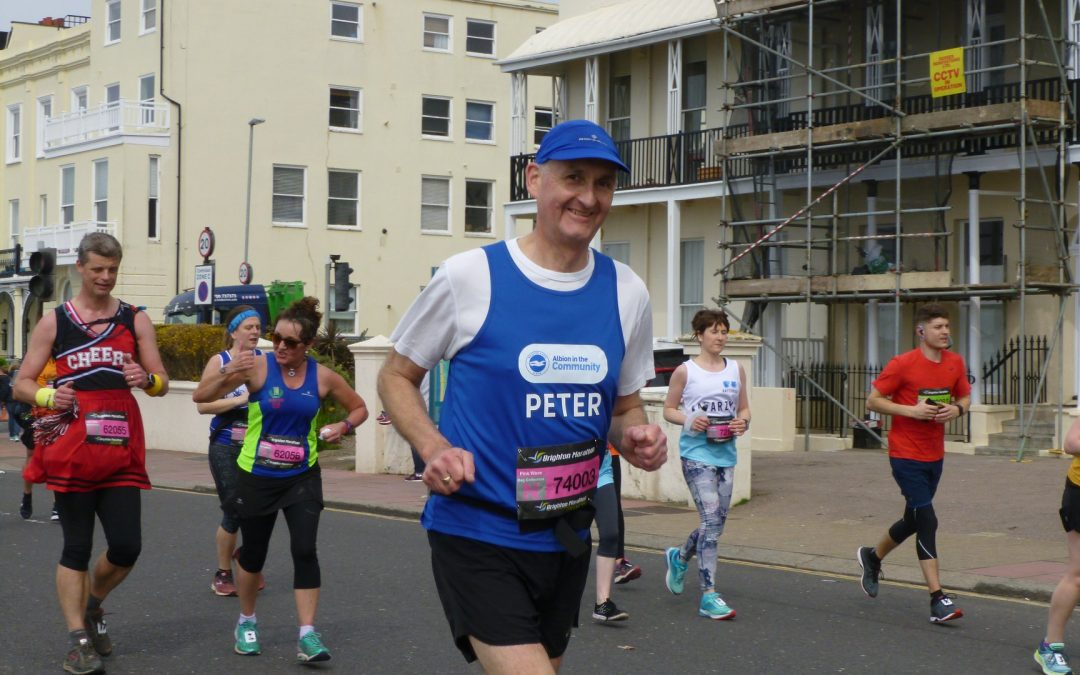 Peter is running the 2020 Brighton Marathon!