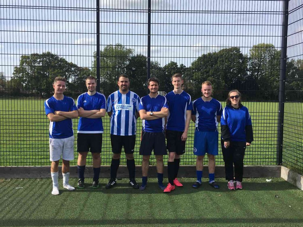 Plus Accounting compete in the RMHC Football Tournament