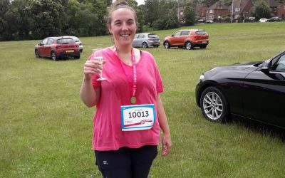 Victoria finishes the Cancer Research Race for Life!