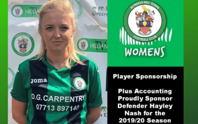 We are delighted to sponsor Hayley Nash for the 2019/20 season!
