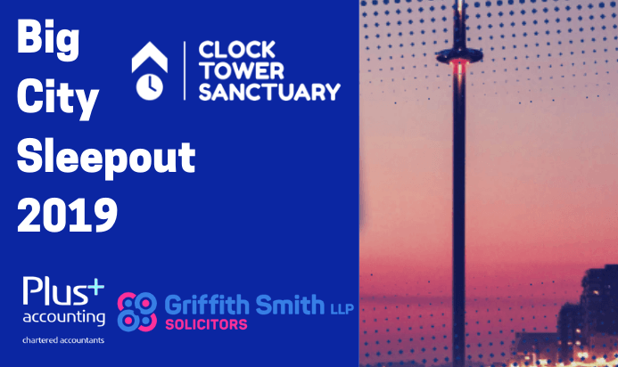 Big City Sleepout for the Clock Tower Sanctuary!