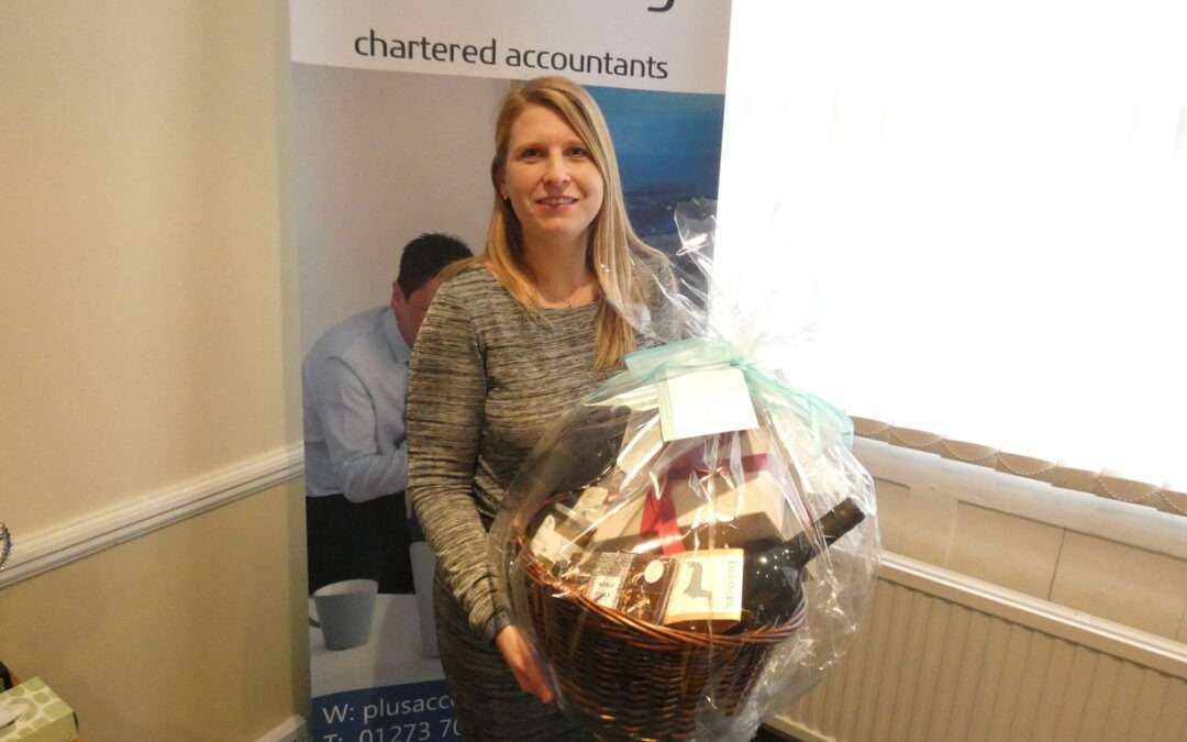 Angharad wins the Christmas Hamper Raffle!