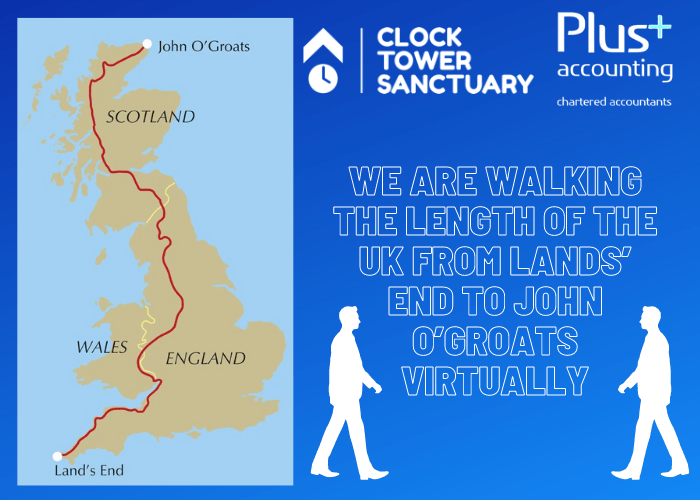 Walking the length of the UK virtually for the Clock Tower Sanctuary!