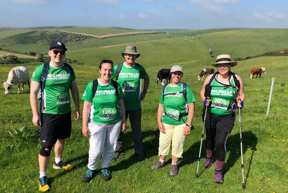 Completing the South Coast Mighty Hike for Macmillan!