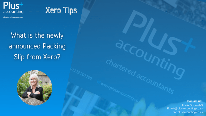 What is the newly announced Packing Slip from Xero?