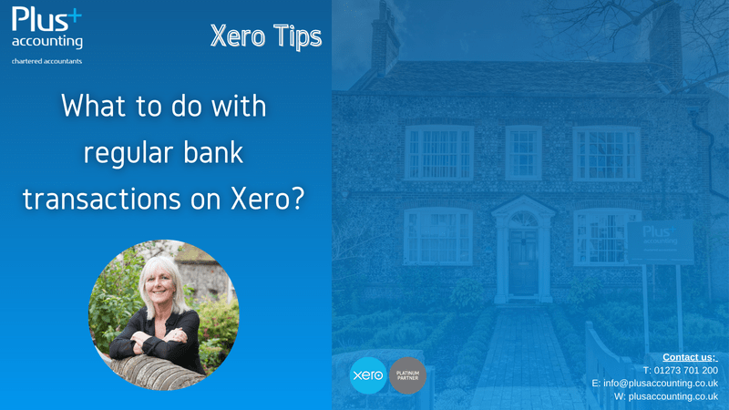 What to do with regular bank transactions on Xero?